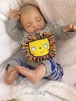 New Reborn Doll Baby Boy Ben Fake Babies Realistic 22 Big Newborn Painted Hair