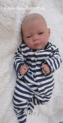 Newborn Reborn Baby BOY Doll AWAKE. #RebornBabyDollArtUK