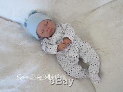 Newborn Reborn Baby BOY Doll sleeping. #RebornBabyDollART UK