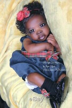 PROTOTYPE DeShawn by Jorja Pigott AA, biracial reborn baby doll