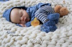 PROTOTYPE Reborn Baby Alexis By Cassie Brace, Sandra Picaro Ultra Realistic