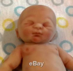 Painted Micro Preemie Full Body Silicone Baby Boy Doll Gabriel