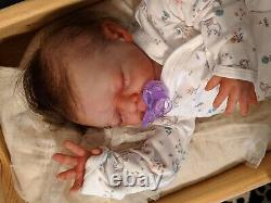 Partial Silicone Reborn Baby Girl Doll By Sherry Bowdens