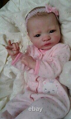 QUEEN'S CRIB OOAK REBORN BABY GIRL DOLL PRINCESS! PRESLEY SOLD OUT kit
