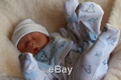 REBORN BABY DOLL PREEMIE 16 PREMATURE ARTIST 9yrs MARIE AT SUNBEAMBABIES GHSP