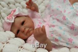 REBORN BABY DOLL PREEMIE 16 PREMATURE TAYLA BY ARTIST OF 9yrs MARIE SUNBEAMBIES