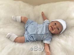 REBORN DOLL EDDIE Realistic Fake Life Like Baby Childs Birthday UK Saxon Reborns