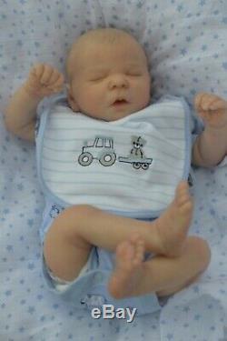 REBORN lifelike baby boy doll Darren Asleep Sleeping Realborn Bountiful Baby