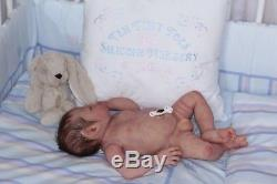 REDUCED Dylan #6 awake full bodied silicone reborn doll/baby by jo birch