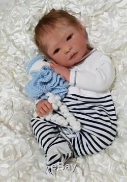 REDUCEDLouis Full Bodied Silicone Baby by Jo Birch not reborn doll