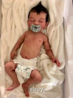 Ready to ship, full body solid silicone newborn baby boy doll Bridger