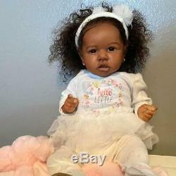 Real life 22'' Little Diaz Reborn Baby Doll African Girl