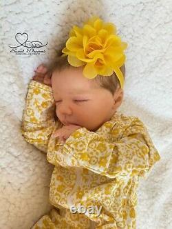 Realborn Felicity asleep by Bountiful Baby, OOAK, Lifelike, Realistic Baby Doll