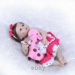 Realistic 22 Reborn Baby Dolls Girl Full Body Vinyl Silicone Newborn Doll Bath