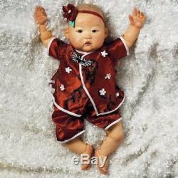 Realistic Handmade Baby Doll Girl ASIAN Lifelike Vinyl Weighted Alive Reborn