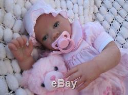 Realistic Newborn Reborn Doll Blue Eyed Baby Sunbeambabies Childs 19 New