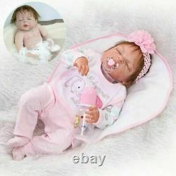 Realistic Reborn Baby Dolls Full Body Vinyl Silicone Girl Doll Lifelike Newborns