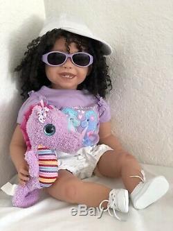 Reborn 22 Ethnic/Hispanic/Biracial/African American Toddler Girl doll Sissy