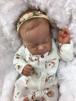 Reborn Baby Art Doll Authentic Reborn Azalea By Aura Lee Eagle Mocro Rooted