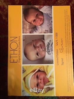 Reborn Baby Boy Doll Ethon By Cassie Brace Sold Out LMT Edition 20 Tall COA