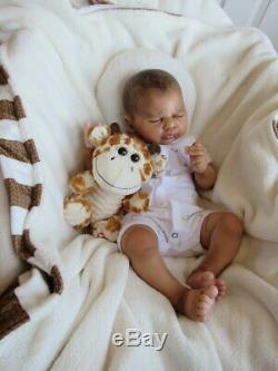 Reborn Baby Boy SOLD OUT LTD ED ETHAN by Nicole Russell AA Ethnic Biracial