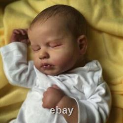 Reborn Baby Doll Sleeping Newborn Soft touch Silicone Toddler Lifelike 19inch