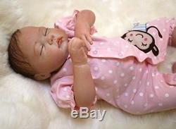 Reborn Baby Doll That Look Real Silicone Vinyl Realistic Newborn Full Handmade