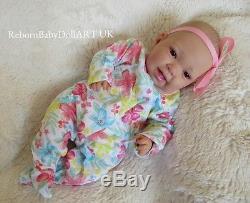 Reborn Baby GIRL Doll, AWAKE HAPPY BABY GIRL DOLL. #RebornBabyDollART UK