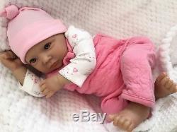 Reborn Baby Girl Doll Wide Awake Libby Realistic Hand Painted 22 Newborn