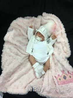Reborn Baby Girl First Reborn Spanish Outfit With Bling Pom Pom Hat 0128s