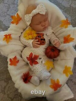 Reborn Baby Girl Realborn 7 month old June Asleep by Bountiful Baby