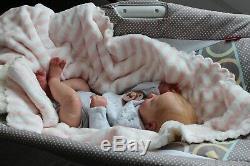Reborn Baby Girl Realborn Alexa, Ultra Realistic Newborn Therapy Doll