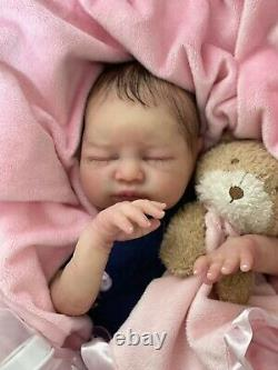 Reborn Baby Partial Silicone Doll Adalyn 4lbs 19in LE Full Limbs Gorgeous