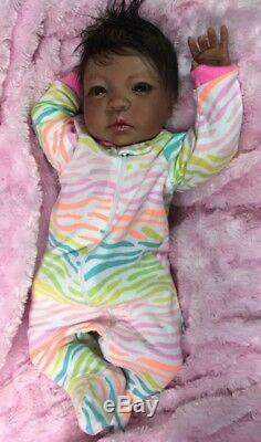 Reborn Biracial Sheliah-Baby Doll Therapy for Kids, Dementia and Special Needs