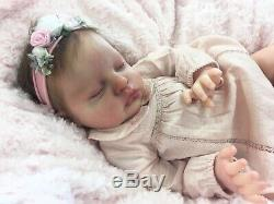 Reborn Doll Heavy Girl Fake Baby Ruby Cassie Brace Mono Rooted Hair Stunning