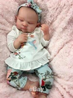 Reborn Doll Heavy Girl Fake Baby Sole Sienna Rae Cassie Brace Painted Hair