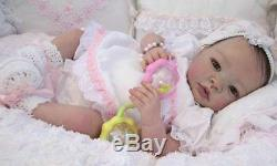 Reborn Doll SHYANN Complete baby Starter Beginner Kit, Genesis paints, Mohair NR