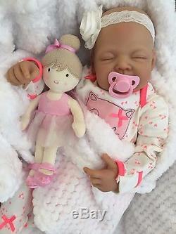 Reborn Dolls Cheap Baby Girl Amber Realistic 22 Newborn Real Lifelike Floppy