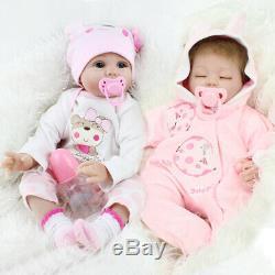 Reborn Dolls Twins Real Baby Doll Newborn Silicone Vinyl Lifelike Girl Dolls