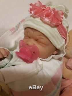 Reborn First Tears Baby Real Girl More Affordable 14 In Takes A Pacifier