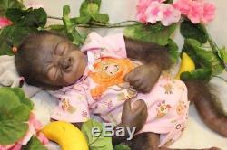 Reborn Monkey Baby Doll