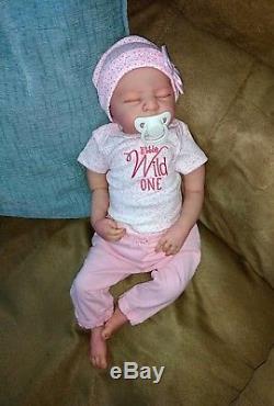 Reborn Newborn Baby Girl Leah 19 Sandra White Sculpt Custom Order