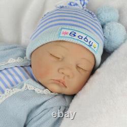Reborn Newborn Dolls Toddler 22'' Lifelike Vinyl Silicone Baby Boy Doll Gift Toy
