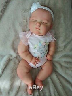 Reborn Realborn Baby Girl Joseph Asleep 23 Chubby Baby Custom Order