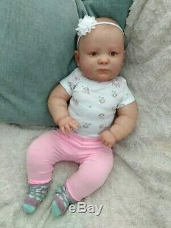 Reborn Realborn Chubby Baby Girl 23 Awake Joseph Sculpt Custom Order