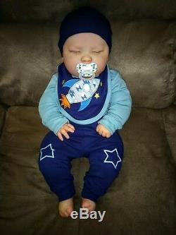 Reborn Realborn Sleeping Joseph 23 3 Month Chubby Baby Custom Order