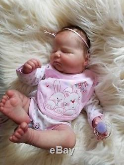 Reborn/Realborn doll Landon/Bountiful baby, rooted/magnet/COA