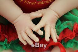 Reborn Toddler Baby Dolls 24'' Soft Vinyl Silicone Long Hair Doll Kids Xmas Gift
