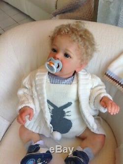 Reborn Toddler-Baby Yannik NEW By Natali Blick Full Chubby Limbs 10lbs COA Cute