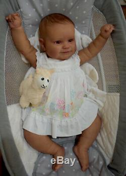 Reborn Toddler Maddie by Bonnie Brown 23in 8lbs Rooted/Painted Hair Realistic